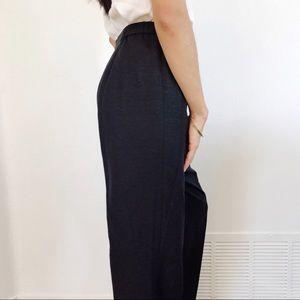 100% silk black pants